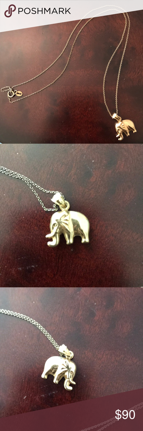 10 Karat Gold Elephant Pendant With 925 Gold Chain Elephant Pendant In 10 Karat Gold 925 Gold Chain Made Gold Elephant Pendant Elephant Pendant Gold Elephant
