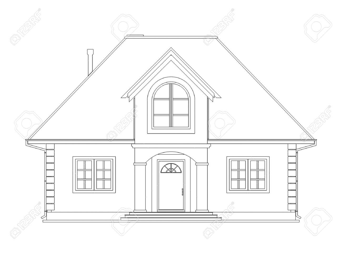 The house to draw house technical draw stock photo for House sketches from photos