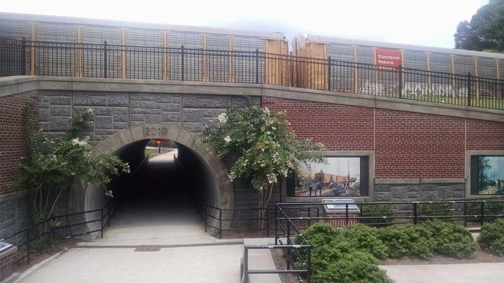 Depot Park pedestrian tunnel in downtown Kennesaw, Georgia | Park photos,  Park, Butler house