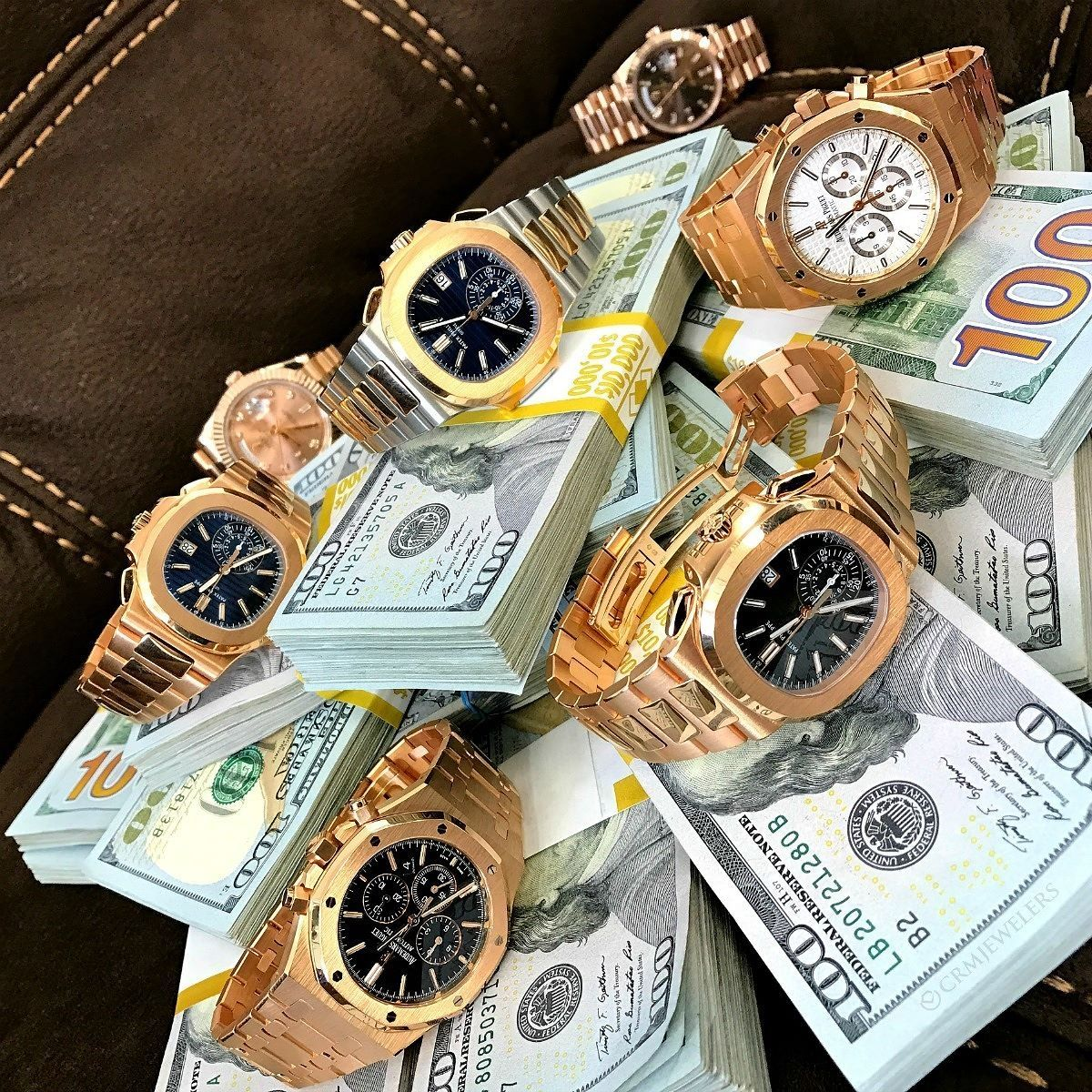 Rose Gold And Blue Benji S The Two Best Things In Life Which One Of These Rose Gold Beauties Would You Pick Money Money Cash Gold Money