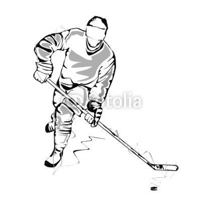 Aufkleber Hockey Spieler Skizze Pixers Wir Leben Um Zu Verandern Hockey Sport Zeichnungen Eishockeyspieler