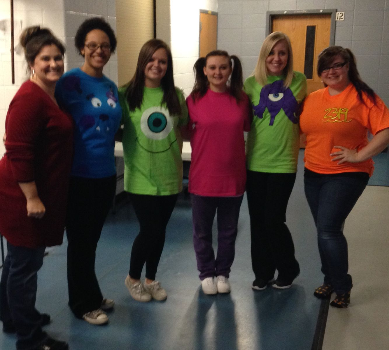 DIY Halloween Monsters Inc  costumes  #roz #sully #mikewazowski #boo