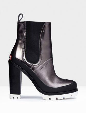 hunter original high heel waterproof chelsea boots  boots
