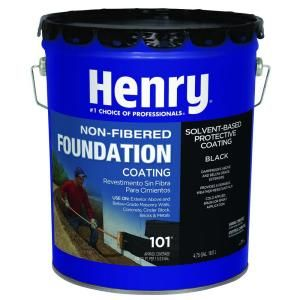 Henry 4 75 Gal 101 Non Fibered Foundation Coating He101571 The Home Depot Roof Coating Roll Roofing Roof Sealer