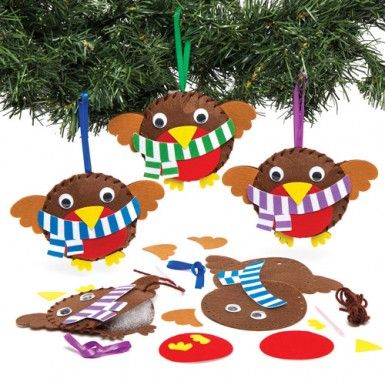 Christmas Robin Decoration Sewing Kits - Bakerross Robins