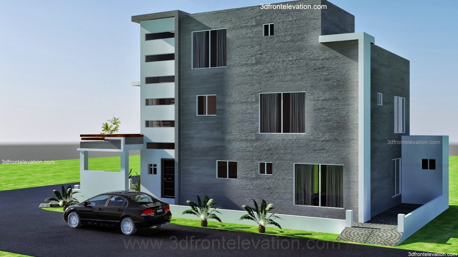 10 Marla ,modern Architecture House Plan Corner Plot  DESIGN IN LAHORE   PAKISTAN