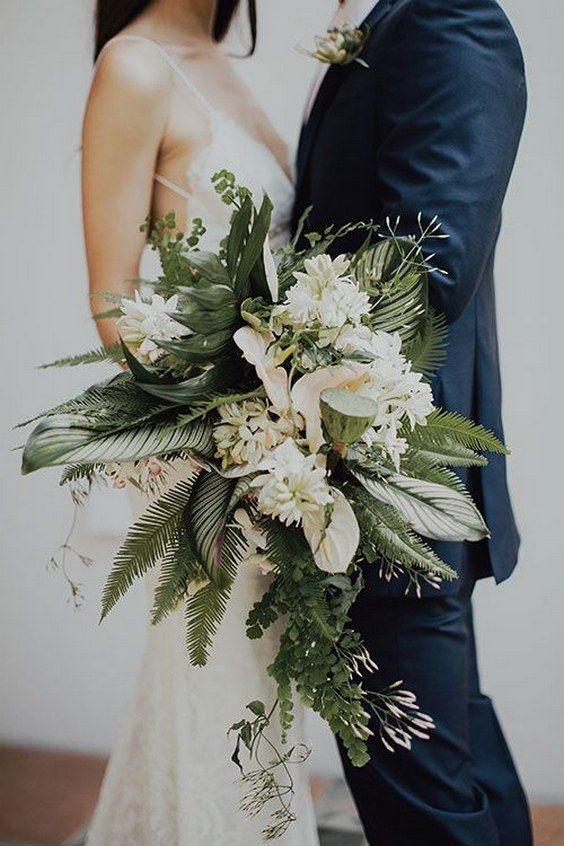 50 Green Tropical Leaves Wedding Ideas Boho Wedding Wedding