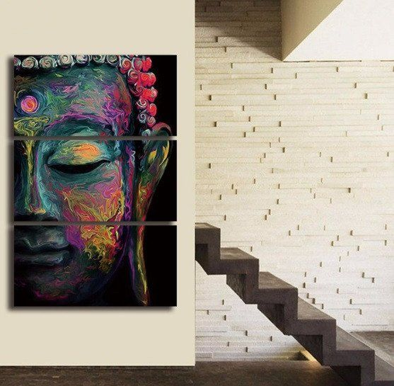 Relaxing Buddha Canvas 3 Pcs Wall Art | Projects | Pinterest ...