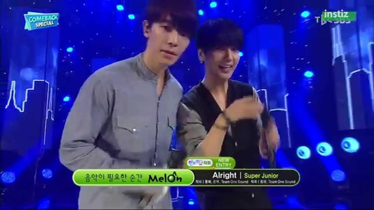 [Comeback Stage] 150719 Super Junior (슈퍼주니어) - Alright @ 인기가요 Inkigayo