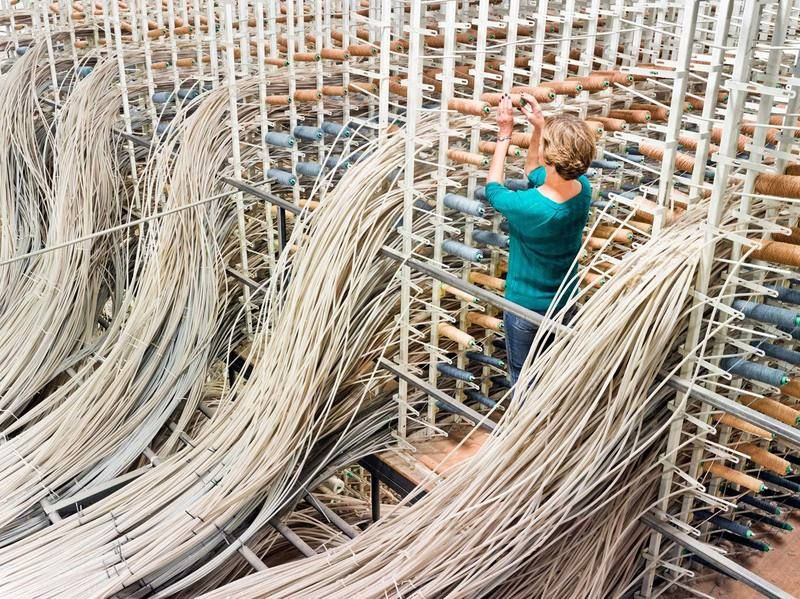 Inside The Colorful Hypnotic World Of Textile Mills Fabric Factory Textile Industry Fruit Of The Loom