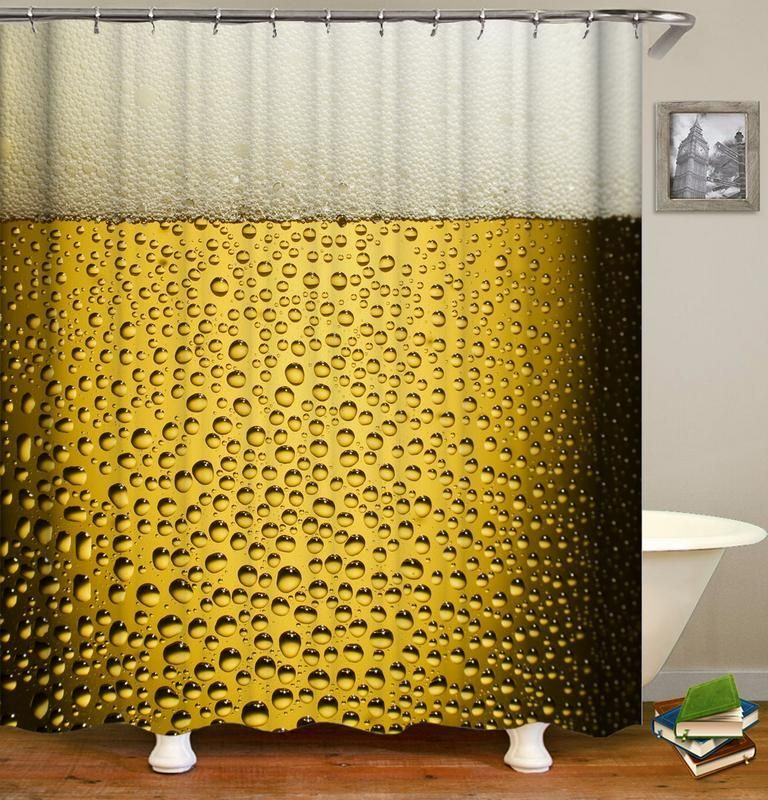 Ice Cold Beer Shower Curtain In 2020 Designer Shower Curtains