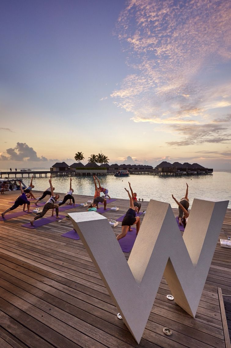 Tara stiles, yoga at the Maldives!