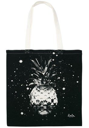 Lala Berlin Cotton Bag Space Pineapple