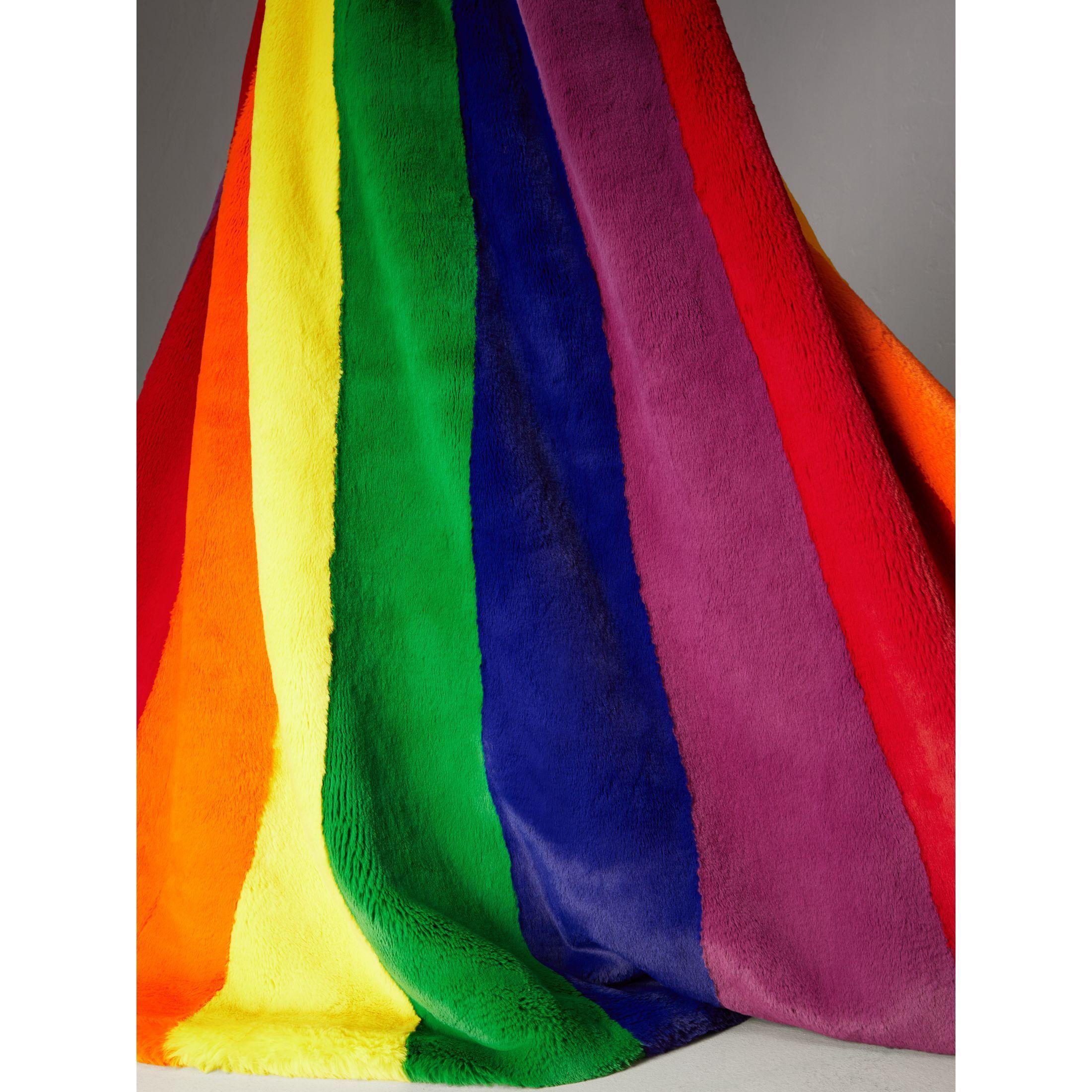 0031ba9c462 Rainbow Faux Fur Cape - Women