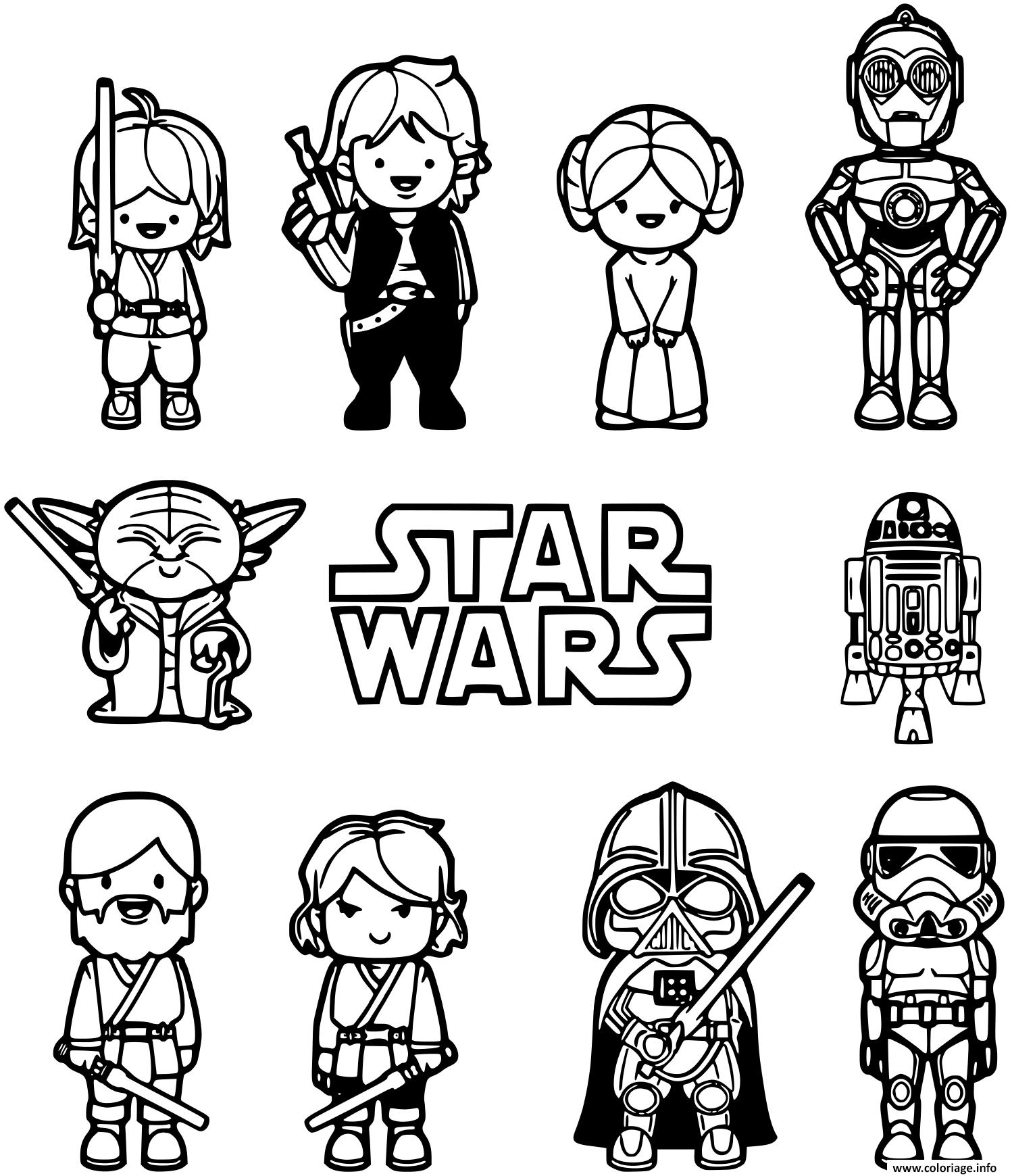 Coloriage lego star wars unique elegant à imprimer  Star wars
