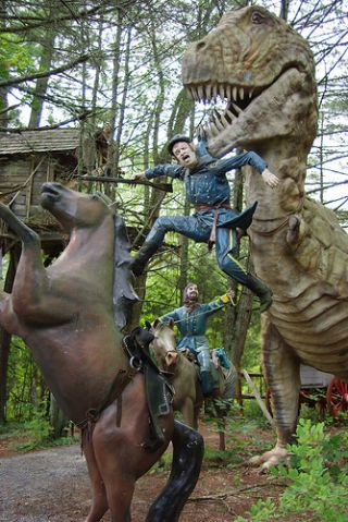 The Alternate History Theme Park Where Dinosaurs Fought in the Civil War #historyofdinosaurs