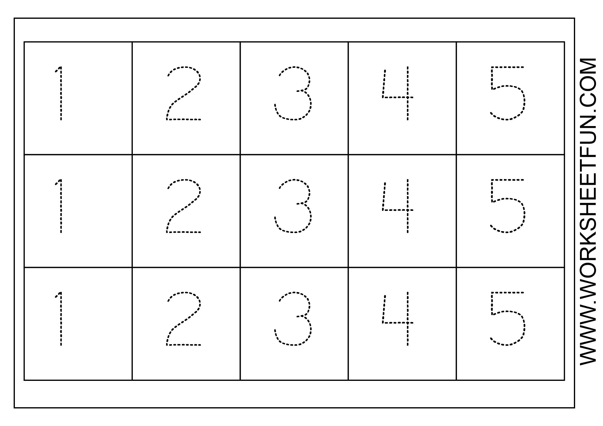Preschool Worksheets Tracing