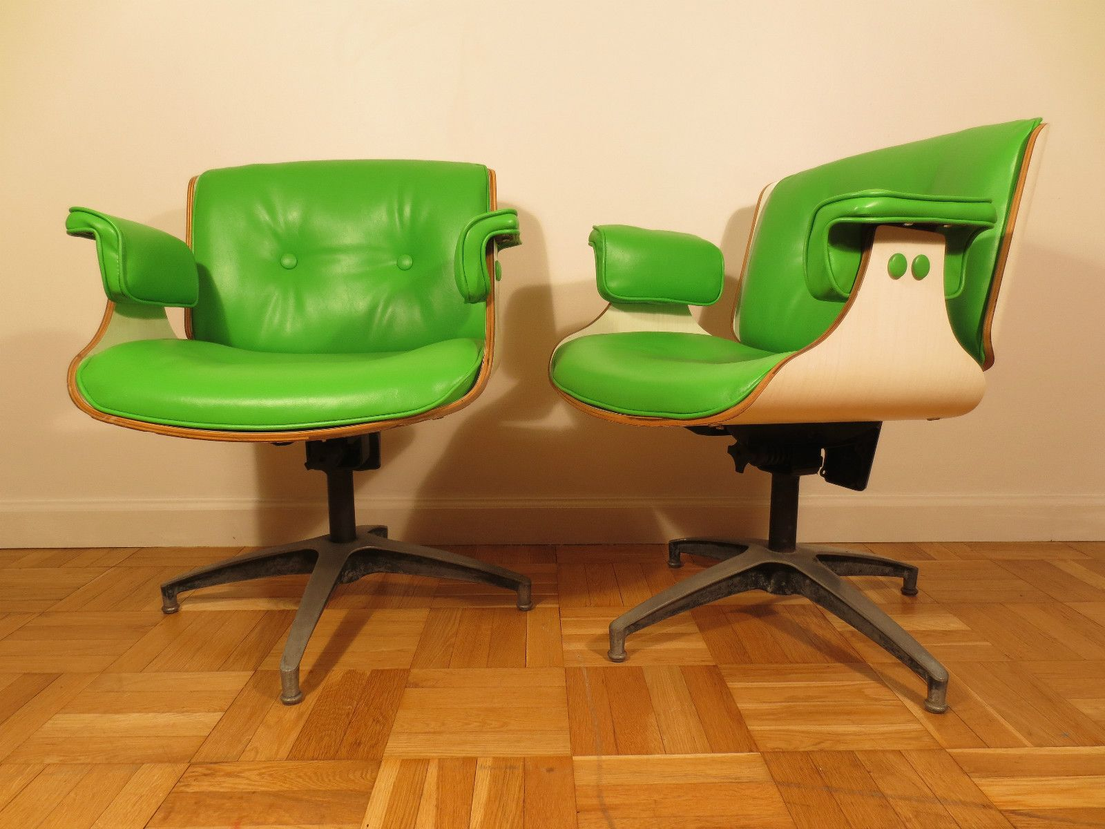 Mid Century Modern Lounge Office Chairs Eames Style Club