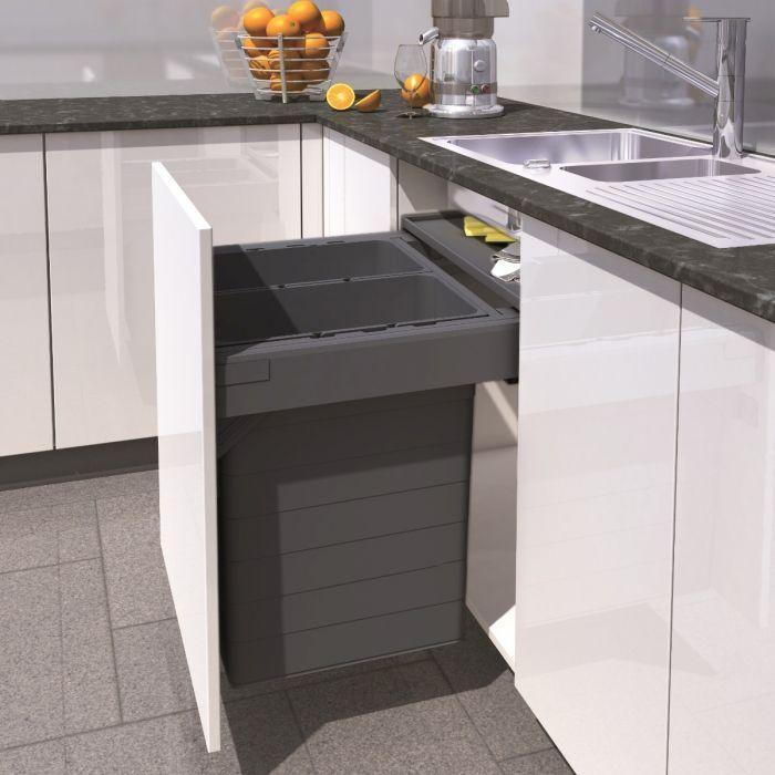 Ninka One2five 84l 42l X2 Two Compartment Recycler Binopolis Casas Com Piscina Casas Cozinha