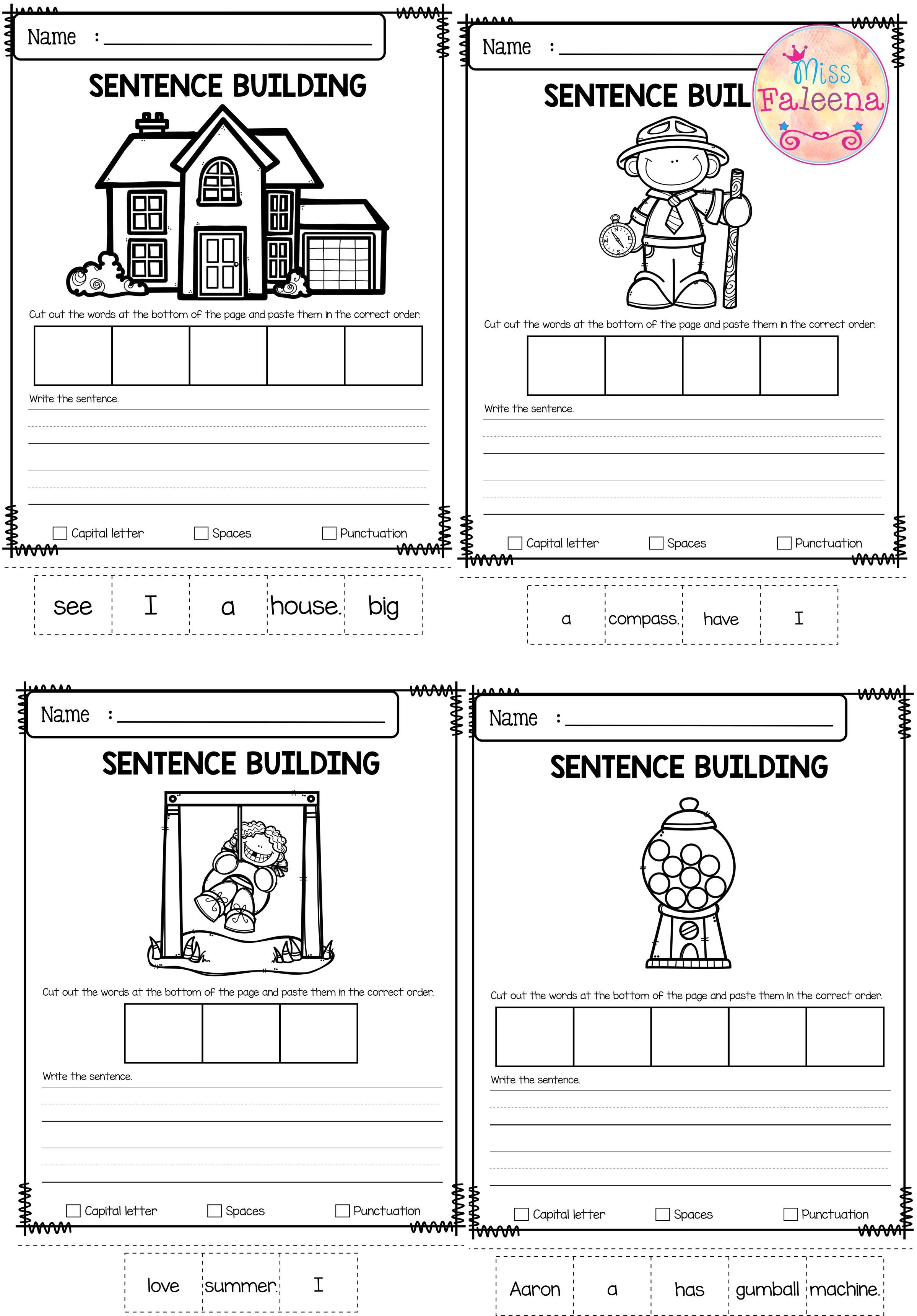 August Sentence Building With Images