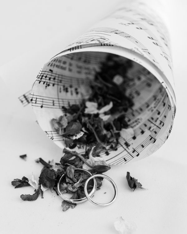 I've seen loads of these #cone #music sheets for #confetti #flowers but never seen used in this way for the #ring #bearer  lovely Lydia&IdrisWeddingBlog-48