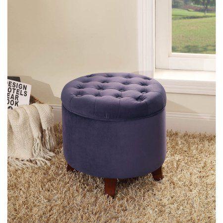 Super Homepop Tufted Round Ottoman With Storage Multiple Colors Creativecarmelina Interior Chair Design Creativecarmelinacom