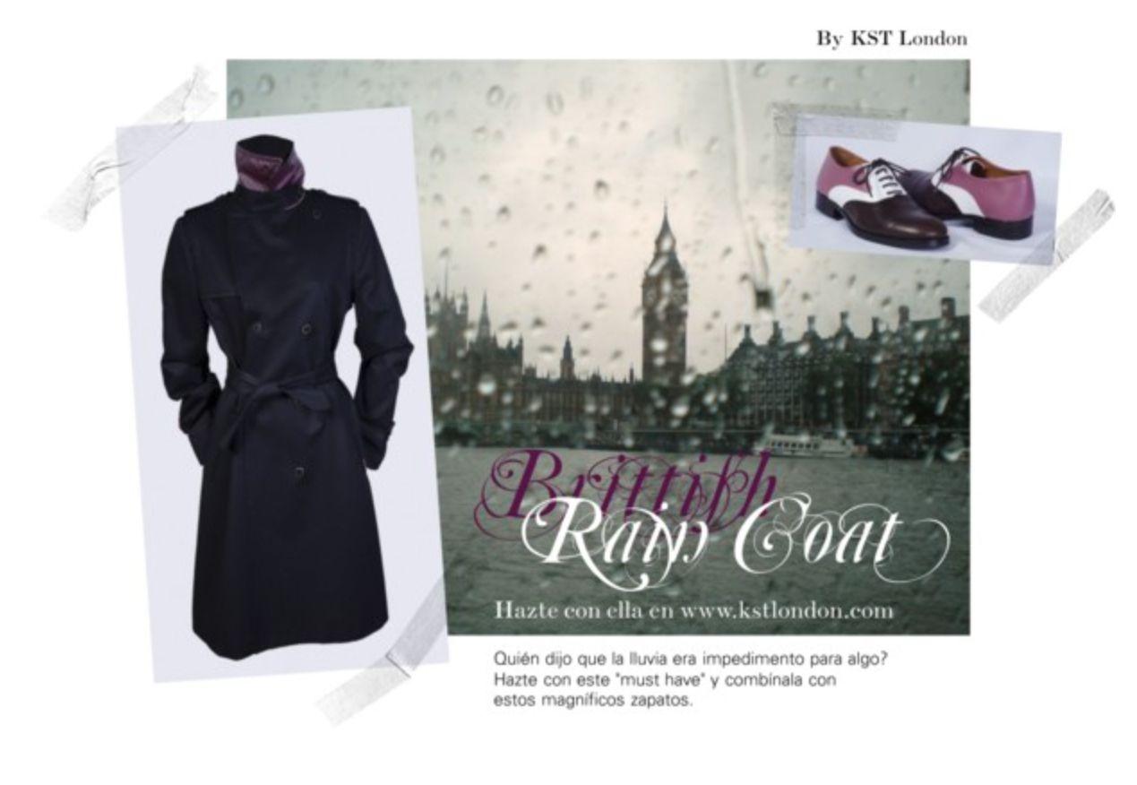 """Quién dijo que la lluvia era impedimento para algo?  Hazte con este """"must have"""" y combínala con estos magníficos zapatos. Tanto la gabardina como los zapatos son KST London. Hazte con ellos próximamente en la nueva web kstlondon.com"""