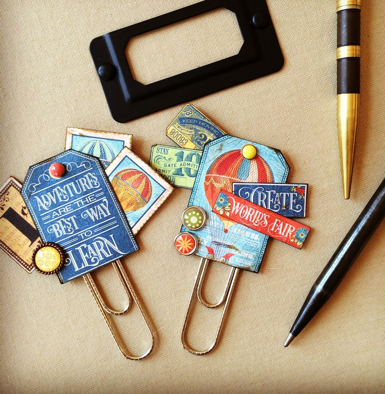 Planner Clips Filofax Journaling Embellishments By Jackie Benedict Paperclip Crafts Paper Clip Art Card Embellishments