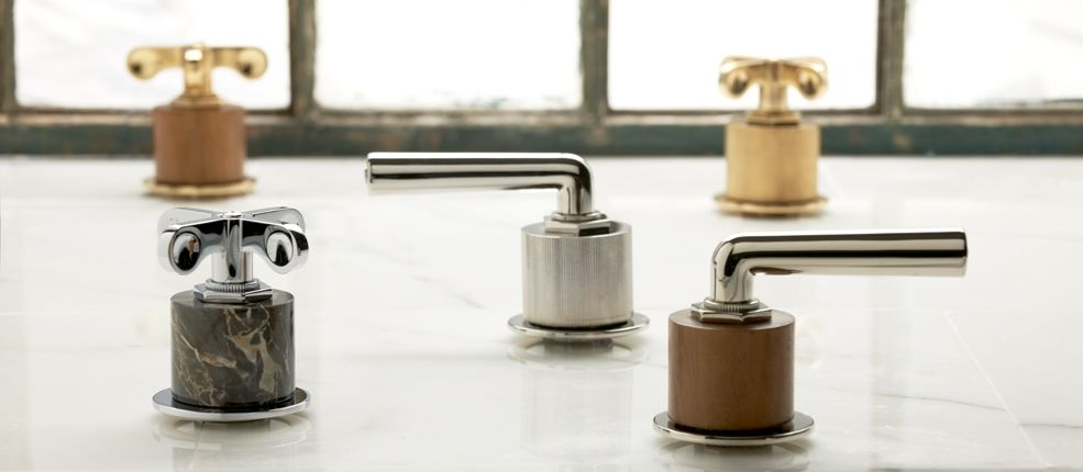 New Waterworks Henry cylinders-teak, stone and metal   Decorative ...