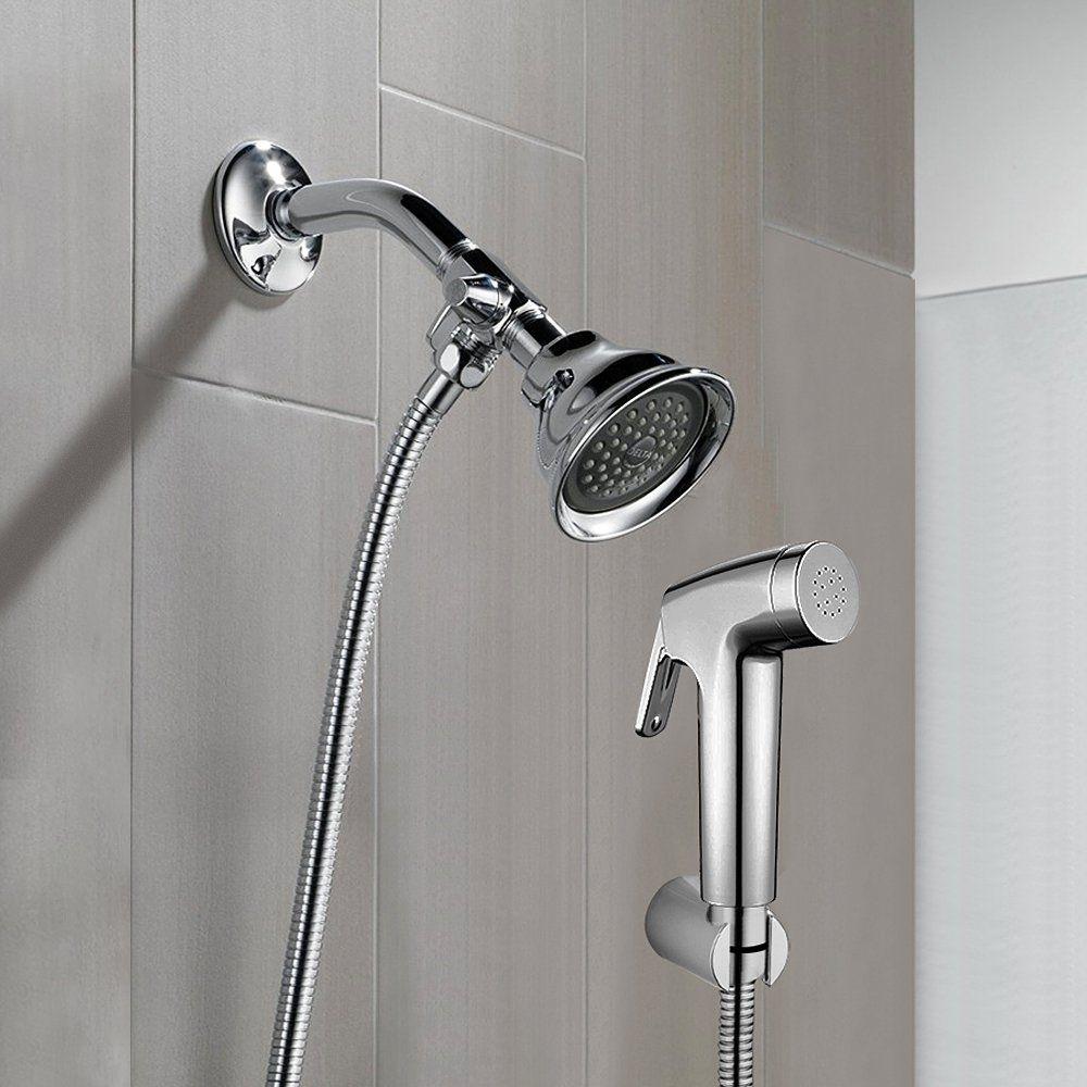 Reege Dog Shower Sprayer Attachment Set For Pet Bathing And Washing Bathroom Sprayer Shower Arm Diverter Wi Hand Shower Head Shower Head With Hose Shower Heads