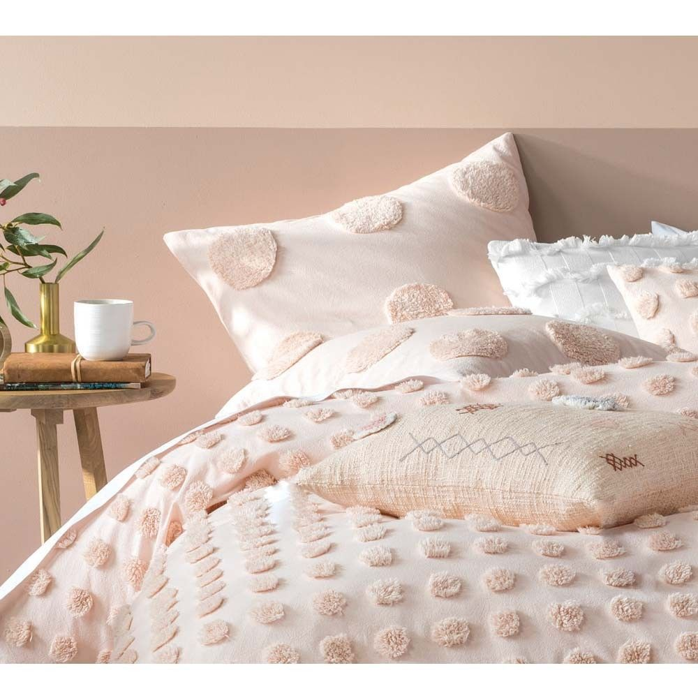 Best Pom Poms On Parade Cushion In Blush Pink Bed Linens 400 x 300