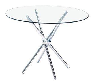Mesa redonda cristal mobilario interior pinterest - Cristales para mesas redondas ...