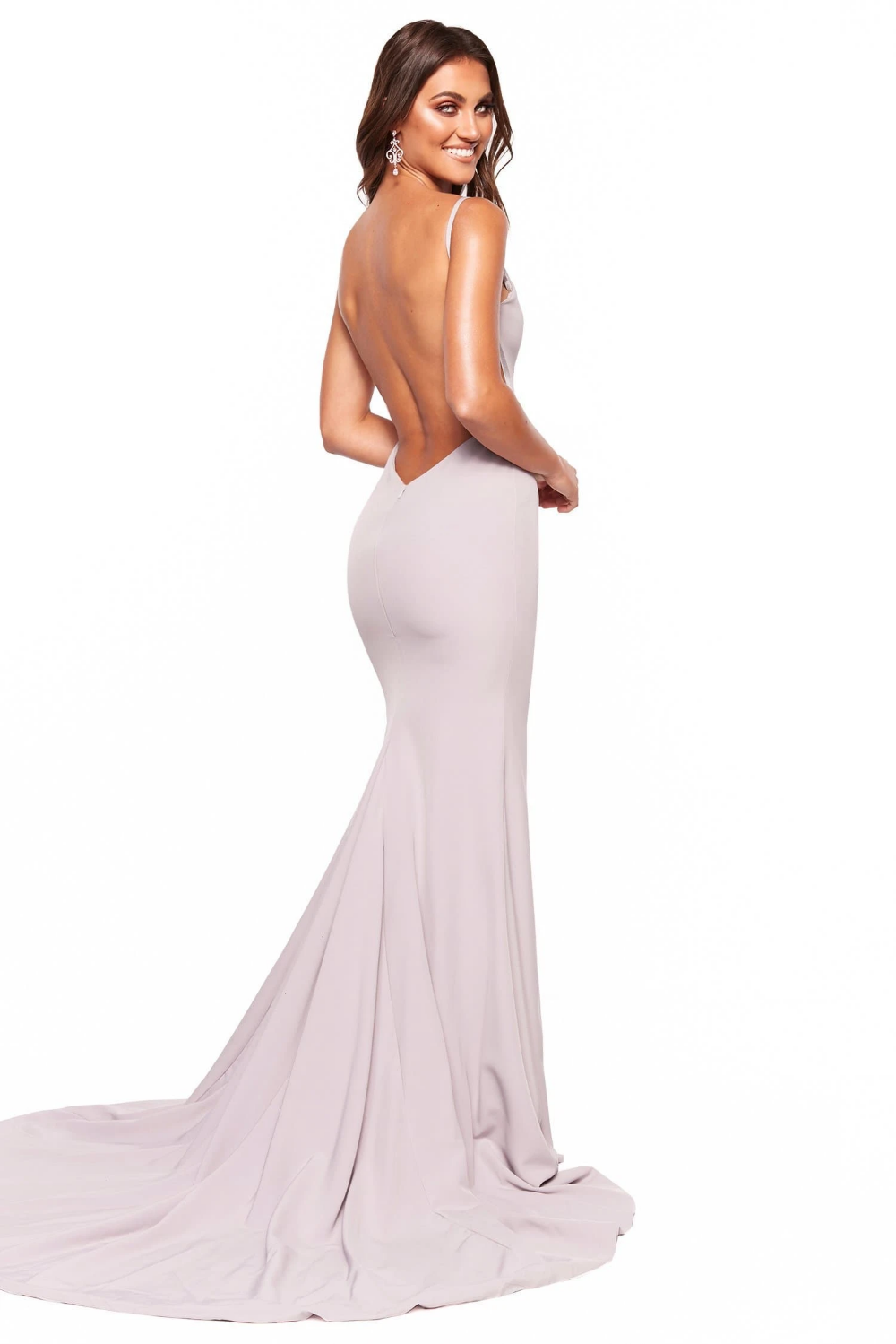 A&N Luxe Malia Crepe Gown Grey Lilac in 2020 Simple