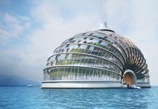 Un concept de structure flottante futuriste