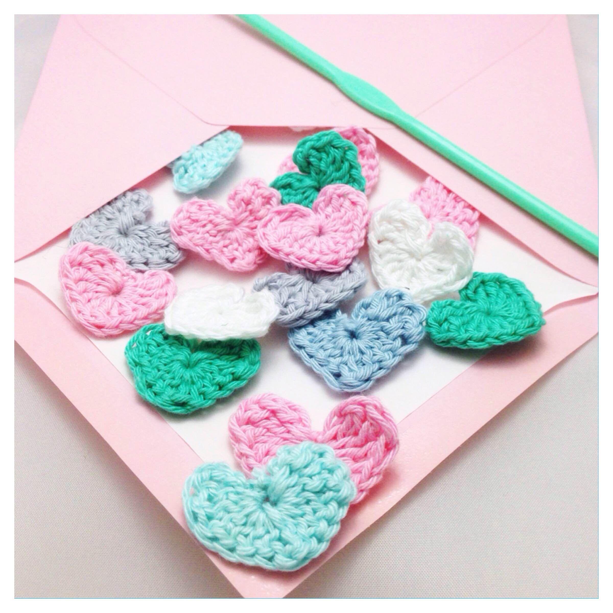 Crochet confetti for valentine diy handmade blog