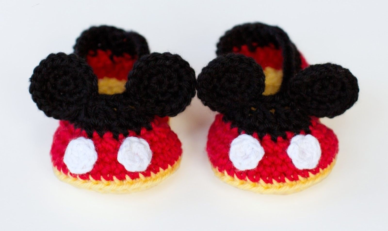 Mickey mouse crochet shoes for babies - Crochet Free | Crochet Free ...