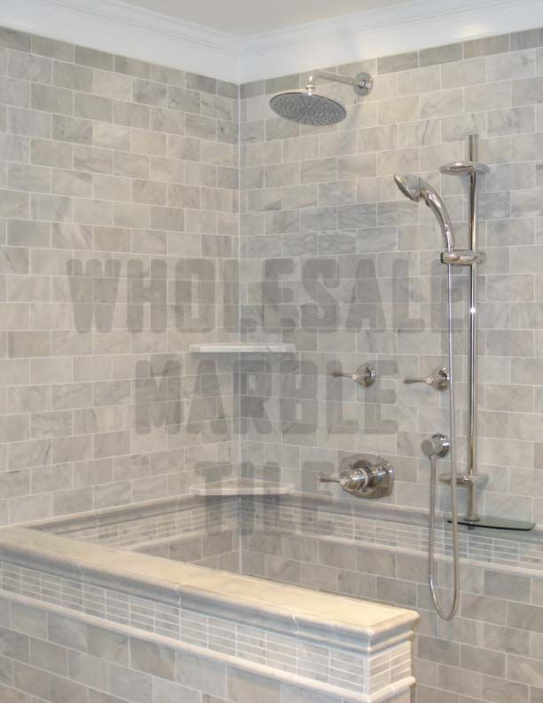 White Marble Tile Bathroom cararra marble tile bathrooms and showers | white carrara marble
