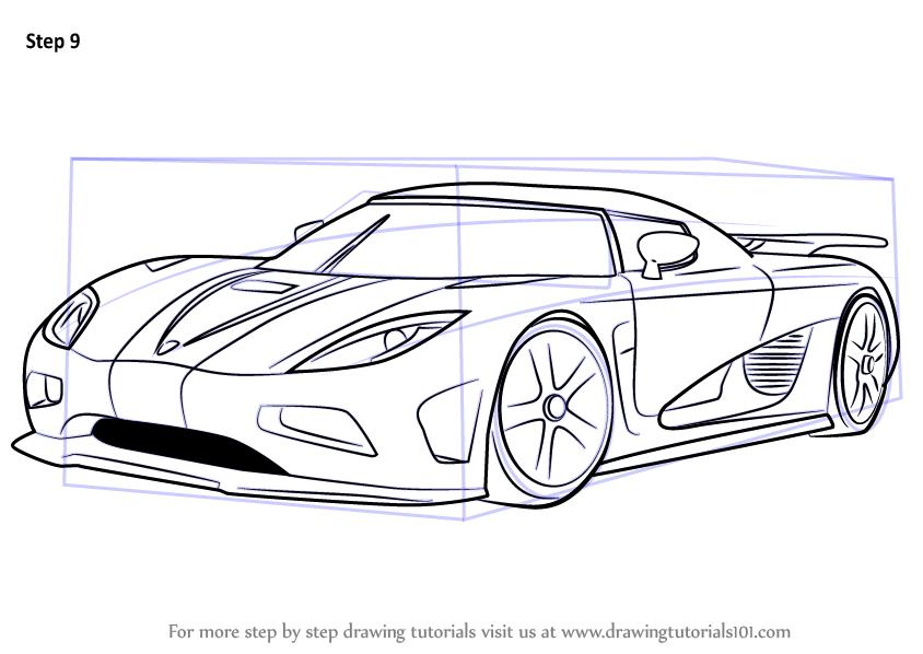 How to Draw Koenigsegg Agera R - DrawingTutorials101.com | DRAWING ...