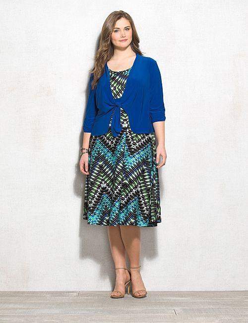 Plus Size Chevron Jacket Dress   dressbarn   Academia Fashion ...