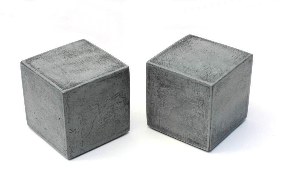 Modern Square Concrete Bookends Set Of 2 Heavy Bookends Office Bookends Paper Weights Kitchen Bookends Cement Bookends In 2020 Modern Square Diy Bookends Cement Crafts