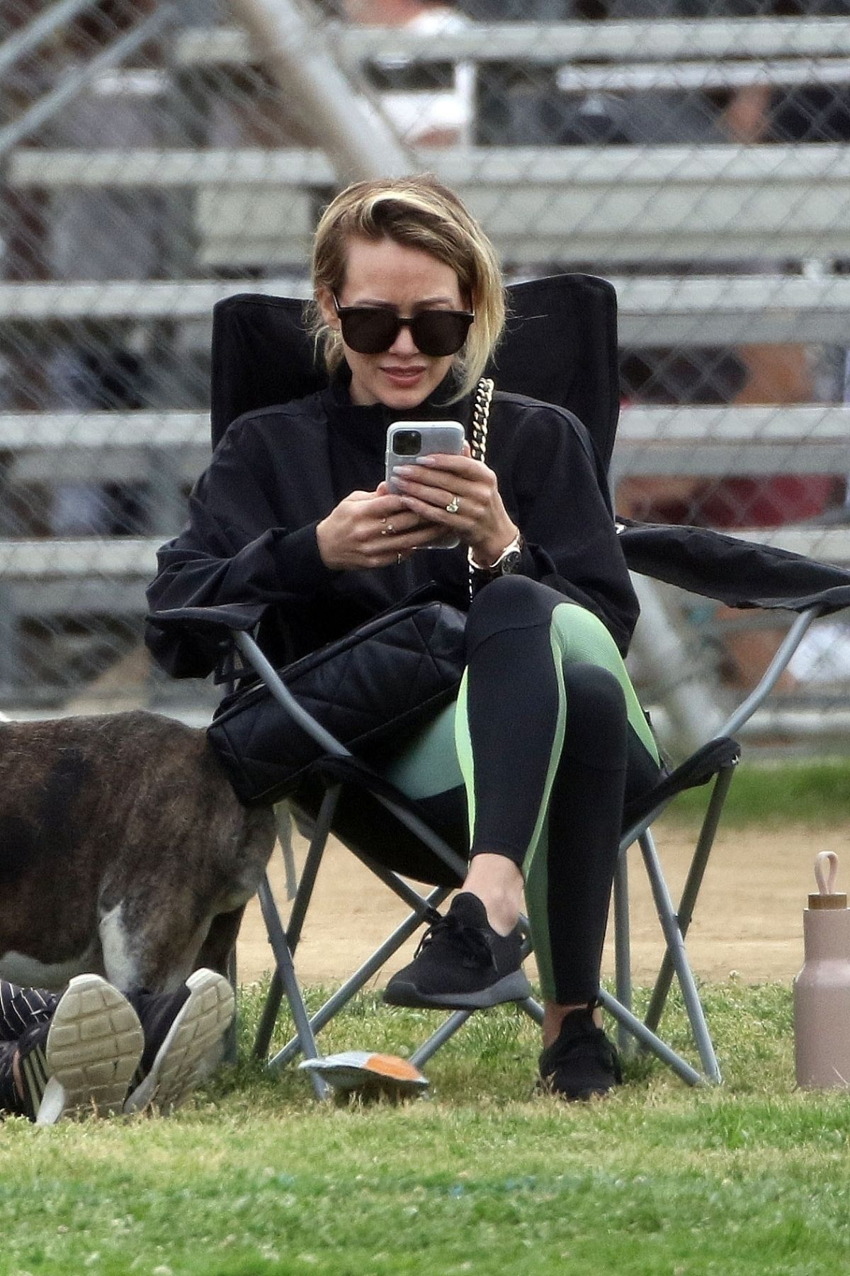 HILARY DUFF at a Soccer Game in Los Angeles 02/29/