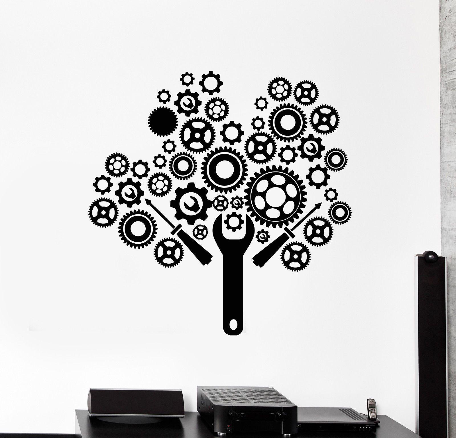 Vinyl Wall Decal Gears Mechanic Auto Car Service Garage Repair Stickers 1681ig Ebay In 2021 Vinyl Wall Decals Vinyl Wall Wall Decals [ 1537 x 1600 Pixel ]