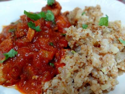 """Moroccan Chicken Stew with Lemon """"Couscous"""" Pilaf   Big Red Kitchen - a regular gathering of distinguished guests"""