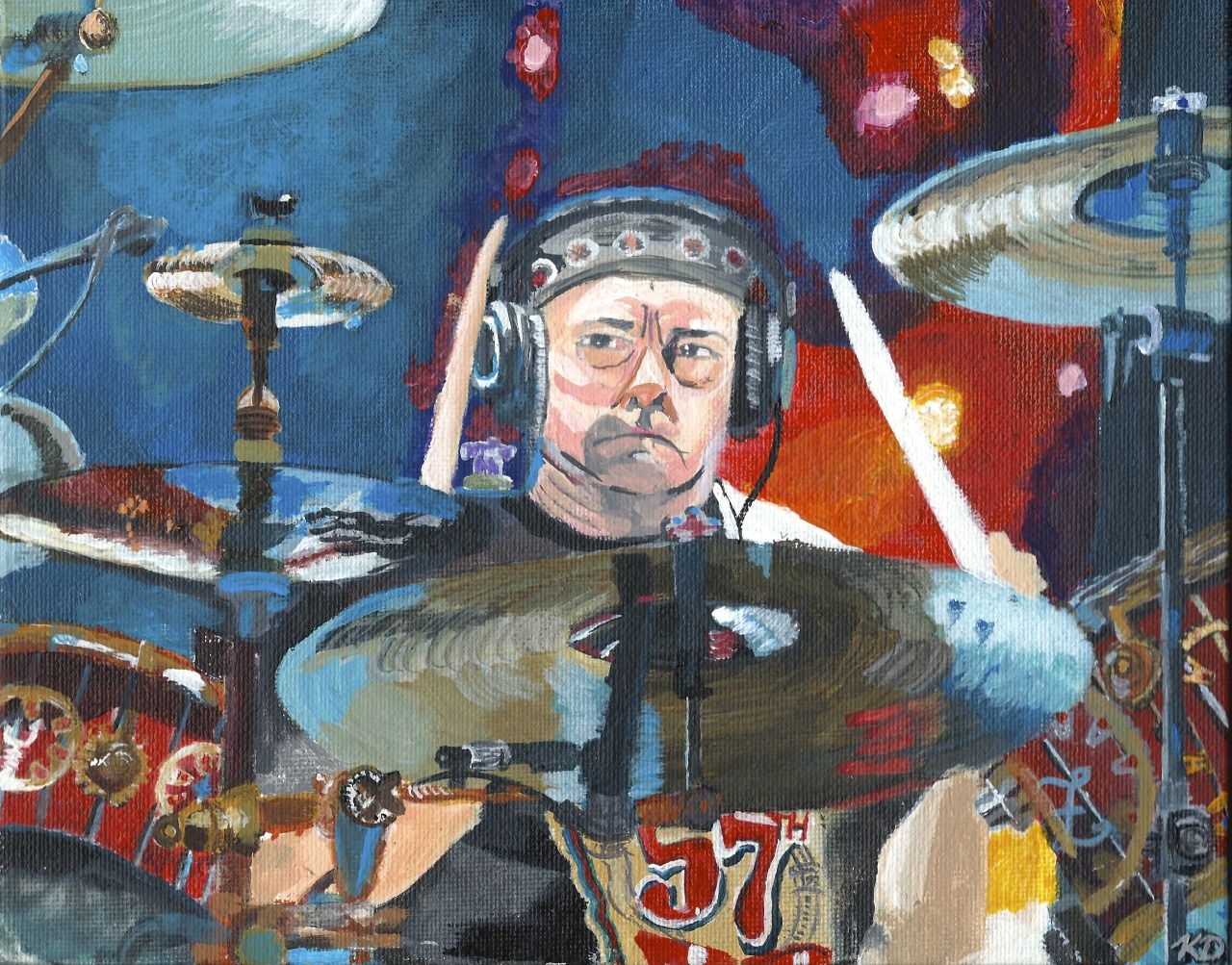 """vitalvisionsart: """"Title: """"Moto Perpetuo"""" (the name of Neil Peart\'s ..."""