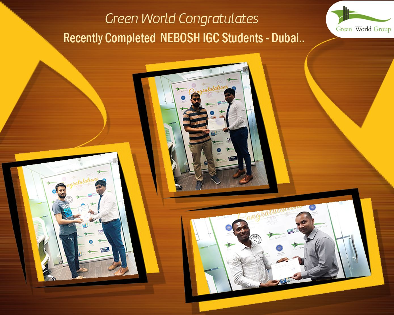 Green World Congratulates the students for successful