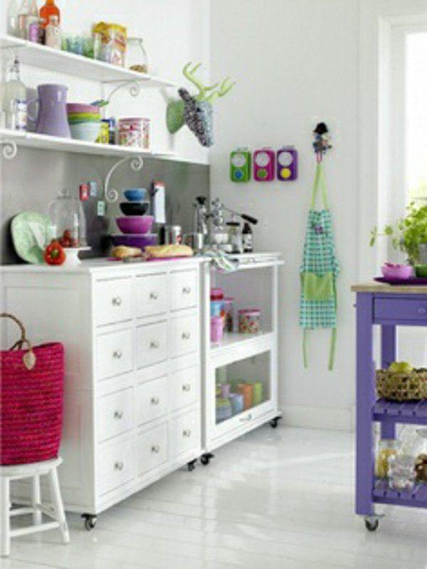 Küche Design regale weiß schrank idee | Küche | Pinterest | Küchen ...