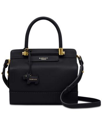 5eaa6917eb95 Radley London Treen Manor Leather Satchel - Black Leather Satchel Handbags
