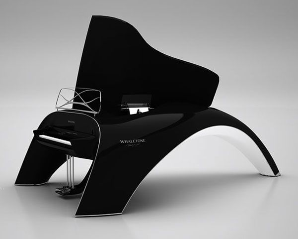WHALETONE Keyboard Piano....  Yes, this is an electric keyboard fashioned like a super-fancy grand piano. It's designed and created by Robert Majkut and that's about all you need to know because God knows you don't have enough money to purchase one for yourself.