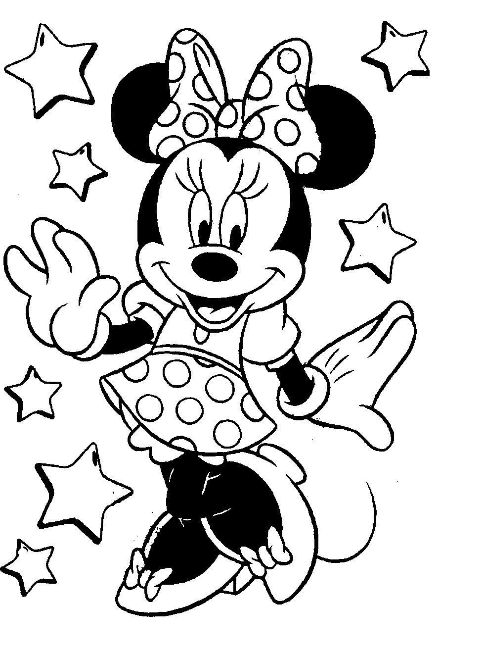 Cute Minnie Mouse Coloring Pages