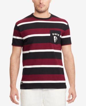 ad979ed9da1bad Polo Ralph Lauren Men's Classic Fit Cotton T-Shirt - Classic Wine Multi XS